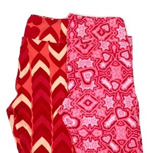 Lularoe Valentines Day BFF leggings